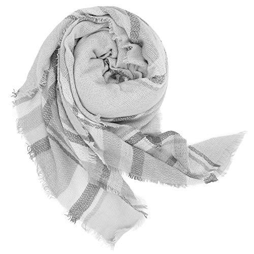 Minetom Damen Fransen Winter Warm Schal Viele Farben Kariert Poncho Karo Halstuch Scarf Blogger Herbst Mehrfarbig Stil 11 Einheitsgröße