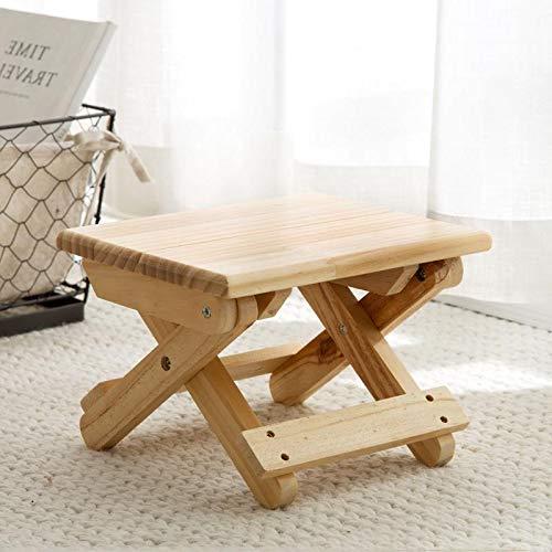 HKGI Vanzlife taburete plegable de madera maciza silla portátil tren plegable taburete adulto organización pequeña silla plegable banco