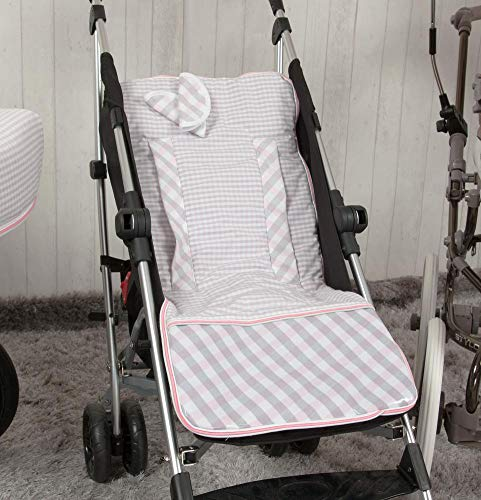 Babyline Summer - Colchoneta ligera para silla de paseo, color rosa