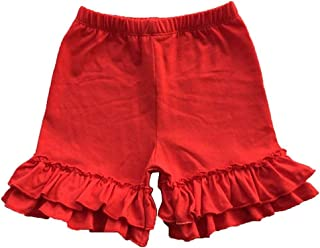Swetye Toddler Baby Little Girls Cotton Double Ruffles Cotton Shorts Bottoms Pants