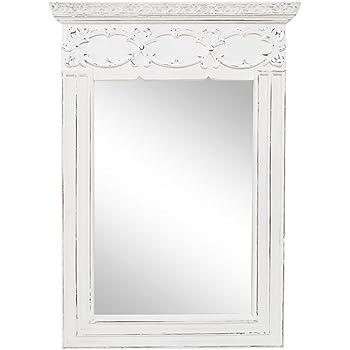45 x 6 x 75 cm stile shabby chic Clayre /& Eef 42S139 Specchio da parete in stile rustico