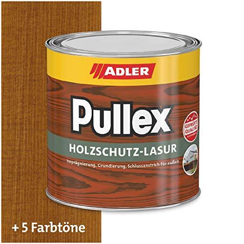 ADLER Pullex Holzschutzlasur Nuss 750ml - 2in1 Imprägnierung und Holzlasur aussen - Universelle, aromatenfreie Lasur für Holz im Außenbereich. Perfekter Holzschutz