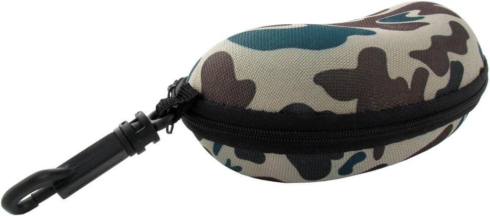 Camo Hard Eyeglass Case with Zipper in Tan