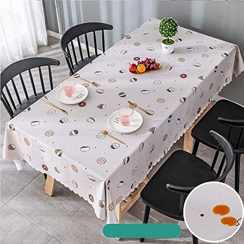 Mantel rectangular de pvc impermeable a prueba de aceite de poliéster suave cubierta protectora de mesa de picnic estera cena decoración de cocina JFCUICAN (color: 021, especificación: 140 x 180 cm)