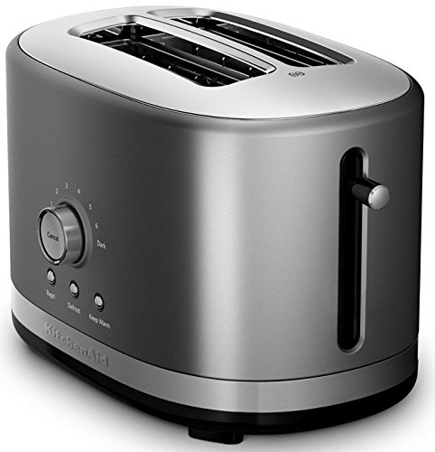 KitchenAid KMT2116QG 2 Slice Slot Toaster with High Lift Lever, Liquid Graphite
