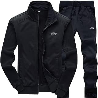 Men's Tracksuit Athletic Sports Casual Full Zip Warm Jogging Sweatsuit