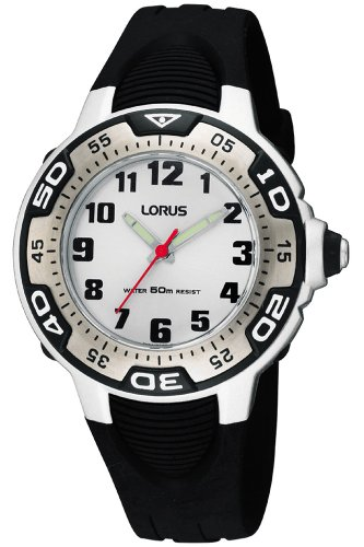Lorus Watches Unisex Analog Quarz Uhr mit Kautschuk Armband RG237GX9