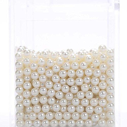 CANDeal Perles Blancs pour Boîte de Rangement Organisateur Maquillage pour Pinceaux Transparent en Acrylique 1500 pcs