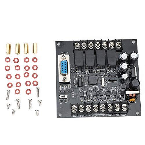 Controlador Programable, Plc Placa de Control Industrial DC 24V FX1N-10MR Módulo de Placa de Retardo de Relé Programable Ampliamente Utilizado En Todo Tipo de Control Automático Industrial(Type A)