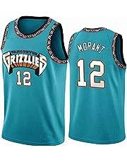 Fei Fei Memphis Grizzlies Ja Morant #12 Camiseta de Baloncesto para Hombres Retro Chaleco de Gimnasia Top Deportivo Jerseys (Tamaño: S-XXL)