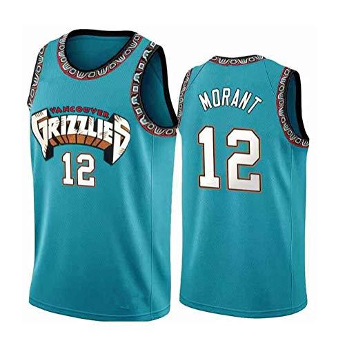 Fei Fei Memphis Grizzlies Ja Morant #12 Camiseta de Baloncesto para Hombres Retro Chaleco de Gimnasia Top Deportivo Jerseys (Tamaño: S-XXL),5,L