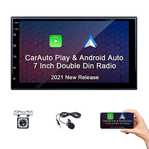 Camecho Android Auto Head Unit Double Din Car Stereo Apple Play 7 Inch...