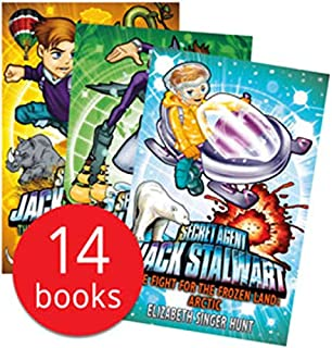 Secret Agent Jack Stalwart Collection 14 Books Set (The Deadly Race To Space Russia, The Quest For Aztec Gold Mexico, The Pursuit Of The Ivory Poachers Kenya, The Puzzle Of The Missing Panda China)