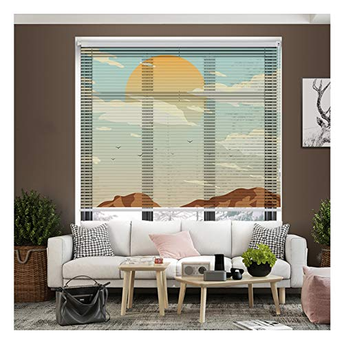 ZXD Persiana De Aluminio, Hogar Oficina Visibilidad De Luz Y Deslumbramiento Proteccion Persianas Impermeable Sin Perforaciones Ajuste Fácil Cortar Fácilmente (Color : A, Size : 60x150CM)