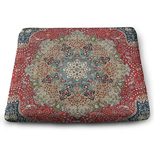 Stuhlkissen, Memory-Schaum, ultimativer Komfort und Weichheit, quadratisch, 38,1 x 33 cm, Sitzbezug, antikes Rot, Blau, Schwarz, Persisch