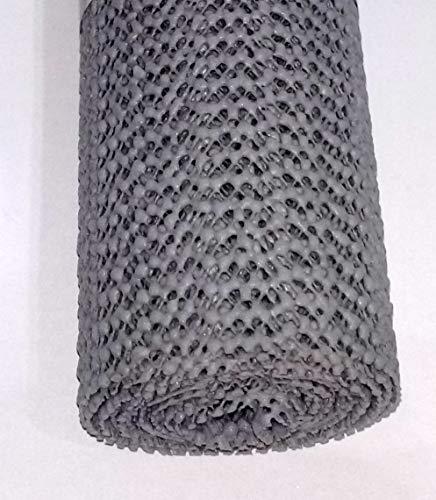 Alfombrilla antideslizante multiusos de 150 cm x 30 cm, ideal para usar en casa y oficina, coches, caravanas, mantiene los artículos en su lugar, protege los muebles (gris)