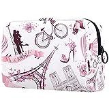 Paris Romantic, bolsa de cosméticos para mujeres, adorables bolsas de maquillaje espaciosas bolsas de viaje bolsa de aseo organizador de accesorios, Paris Romantic, 18.5x7.5x13cm/7.3x3x5.1in,
