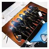 ACG2S Alfombrilla de ratón de Goma Grande 900X400X3MM Alfombrilla de ratón para Ordenador Juego de Tableta,Cosida Bordes & Base de Goma Antideslizante, Durable-1A