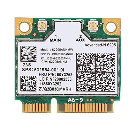 DealMux Mini 300 Mbit/s para tarjeta de red Intel Wireless N 6205 PCI E para portátiles Thinkpad con número FRU.