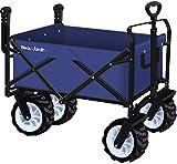 Bollerwagen mit Faltbarer Handwagen Faltwagen Transportkarre Gartenanhänger Gartenwagen Transportwagen für