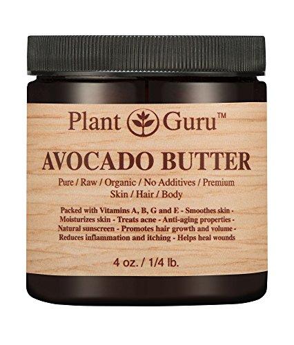 Avocado Body Butter 4 oz. 100% Pure Raw Fresh Natural Cold Pressed. Skin, Hair, Nail Moisturizer, DIY Creams, Balms, Lotions, Soaps.