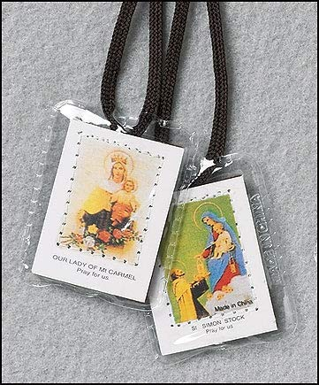 Autom Brown Laminated Scapulars - Economy Package/50