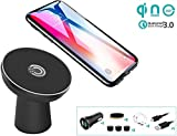 Fast Wireless Car Charger Mount, WANNAP Car Phone Holder Nano Car Charging for iPhone Xs/XS Max/XR/X/8/8+/Samsung Galaxy S10e/S10/S10+/S9/S9 PLus/S8/S8 Plus/S7/S7 Edge/Note 9/Note 8 (10W Nano)