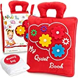 deMoca Quiet Book for Toddlers - Montessori Basic Skills Activity -...