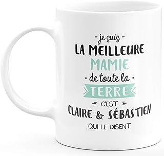 Mug personnalisé Grand-mère Tasse a Cafe Cadeau Rigolo Original Humoristique Fun à Message pour Mamie mémé Maman - idée Ca...