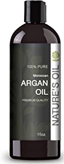 Moroccan Argan Oil 15oz. - 100% Pure, Cold Pressed by Nature's Oil. Stimulate Growth for Dry and Damaged Hair, Skin Moisturizer, Nails Protector.