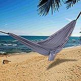 Y-M-H Impermeable al Aire Libre de la Hamaca Que acampa de Tela de paracaídas Individual Doble Columpio Que cuelga 270x140cm Presidente