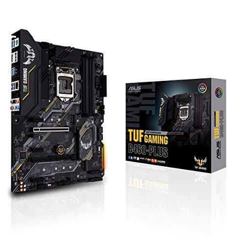 ASUS TUF Gaming B460-PLUS Mainboard Sockel 1200 (ATX, 8 Leistungsstufen, HDMI, DisplayPort, SATA 6Gbit/s, USB-3.2-Gen-1-Anschluss, Aura-Sync)