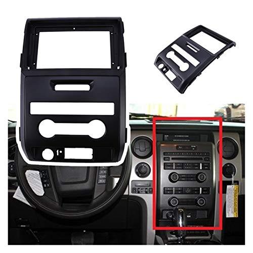 Danghe Soporte de coche de 9 pulgadas para Ford Raptor F150 2009 – 2014 2Din Fascia Audio Fitting Panel Kit de marco de montaje para coche (nombre del color: negro)