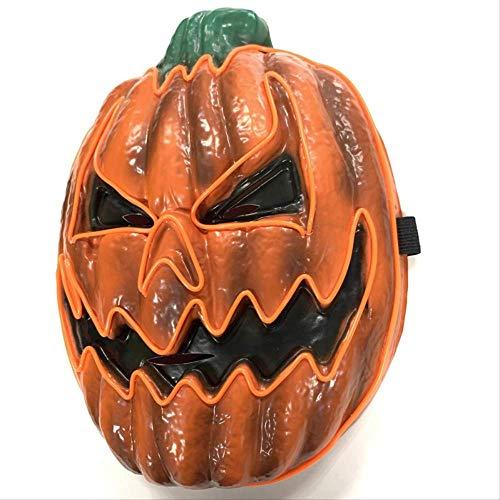 WENHAODJ EL Kürbis Halloween Maske Halloween Horror Maske Halloween Cosplay Party Wimperntusche...