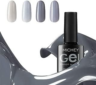 Grey Gel Nail Polish Set, MIYOUNE Soak Off UV LED Gel Nail Polish Starter kit