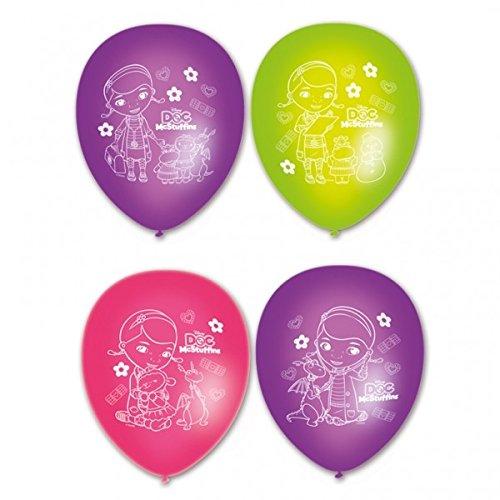 Set de 6 globos de látex de La Doctora Juguetes