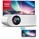 YABER WiFi Projector Mini Portable Projector 5500 Lumens 1080P Full HD Projector[Free Projection