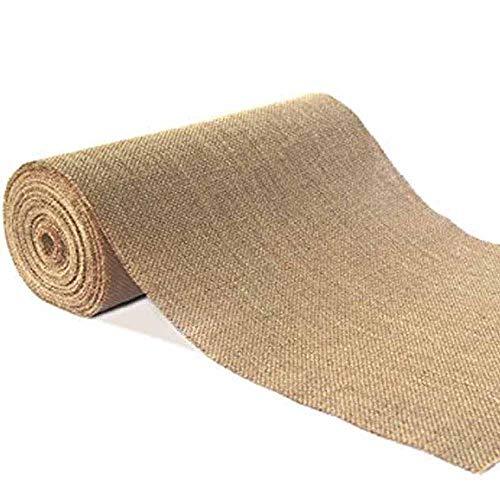 Rollo de 10 m de arpillera de arpillera para caminos de mesa o sillas, de yute, rústico, para bodas, fiestas, banquetes, decoración del hogar, 15cm x 10meters