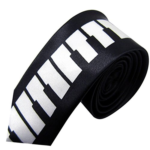 ZSRHH-Neckchiefs Halstücher Herren Krawatte Klavier Krawatte für College Style Casual Note Letters Printed Schmale Krawatte