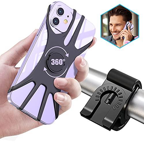 Cocoda Handyhalterung Fahrrad, Abnehmbare Handyhalterung Motorrad, 360° Verstellbar Fahrrad Handy Halter Kompatibel mit iPhone 12 Pro/12 Mini/11 Pro Max, Samsung S20/S10+ & alle 4.0-6.5 Zoll Geräte
