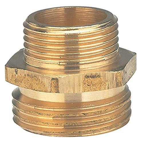Gardena Messing-Reduzier-Gewindenippel: Messing-Anschlussstück, 2-seitiger Anschluss an z.B. Pumpen, 26.5 mm (G 3/4 Zoll)-AG / 21 mm (G 1/2 Zoll)-AG (7262-20)