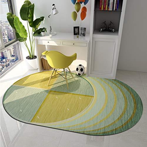 tappeto salotto ovale Ommda Tappeto Moderno Salotto Antiscivolo Colorati Colore Ovali Tappeti Moderni Soggiorno Forma Irregolare Motivo Geometrico Lavabile Design 60x160cm