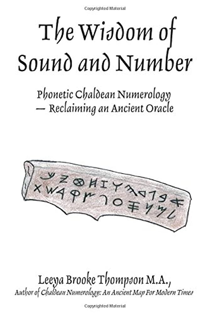 五月暴露するファッションThe Wisdom of Sound and Number: Phonetic Chaldean Numerology: Reclaiming an Ancient Oracle