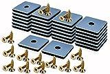 Filzada® 26x Teflongleiter zum Schrauben - 50 x 50 mm (eckig) - Möbelgleiter/Teppichgleiter PTFE (Teflon) inkl. Schrauben