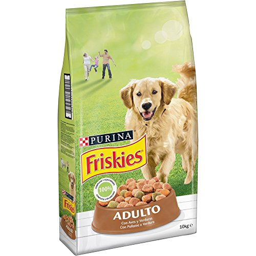 Purina Friskies Pienso para Perro Adulto Aves y Verduras 10...