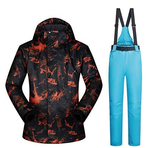 MEOBHI Skipakken voor heren, winddicht, waterdichte kleding, ski-jacks en broeken sneeuwsets winterski- en snowboarpakken voor heren