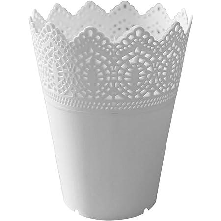 Toruiwa Pot à Crayon Pot à Pinceaux Vase à Plante Support de Stylos en Plastique pour Rangement de Produits de Maquillage Rouge à lèvre Stylos Crayons Multifoncotion