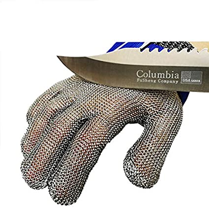 Grade Level 5 Protection,Comfortable Safety Kitchen Cut Gloves for Multiple Uses Cut Resistant Stainless Steel Gloves L