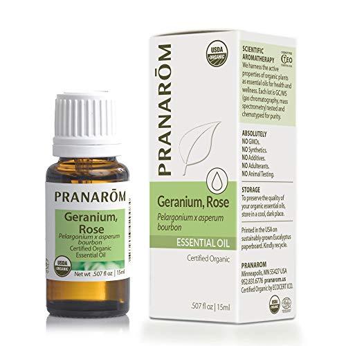 Pranarom - Certified USDA and ECOCERT Organic Geranium Rose 15ml