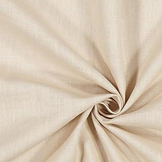 Fabulous Fabrics Leinenstoff mittelschwer, Sand – Leinenstoffe zum Nähen von Leinenhosen, Freizeithemden, Leinenkleider und natürliche Dekoration - Meterware ab 0,5m